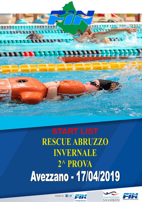 RESCUE ABRUZZO INVERNALE – 2^ PROVA – AVEZZANO 28/04/19 – START LIST