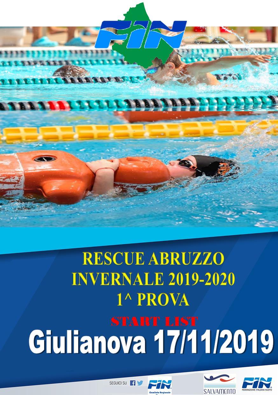 """START LIST 1^ Prova """"Rescue Abruzzo Invernale"""" – Giulianova 17/11/2019"""